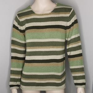 Jessica Striped Round Neck Comfy Knit Sweater
